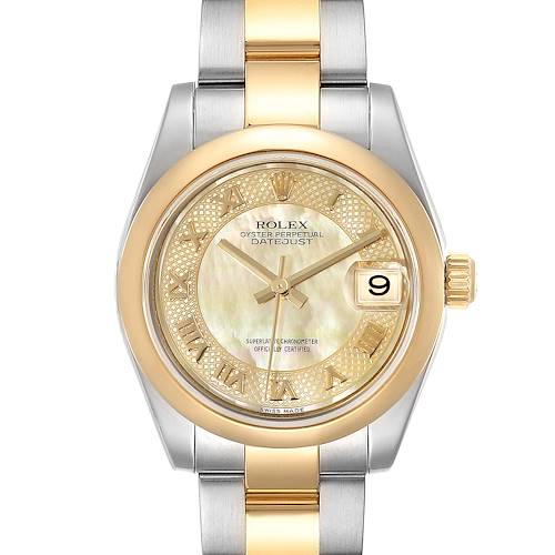 Photo of Rolex Datejust Midsize Steel Yellow Gold MOP Dial Ladies Watch 178243 Box Card