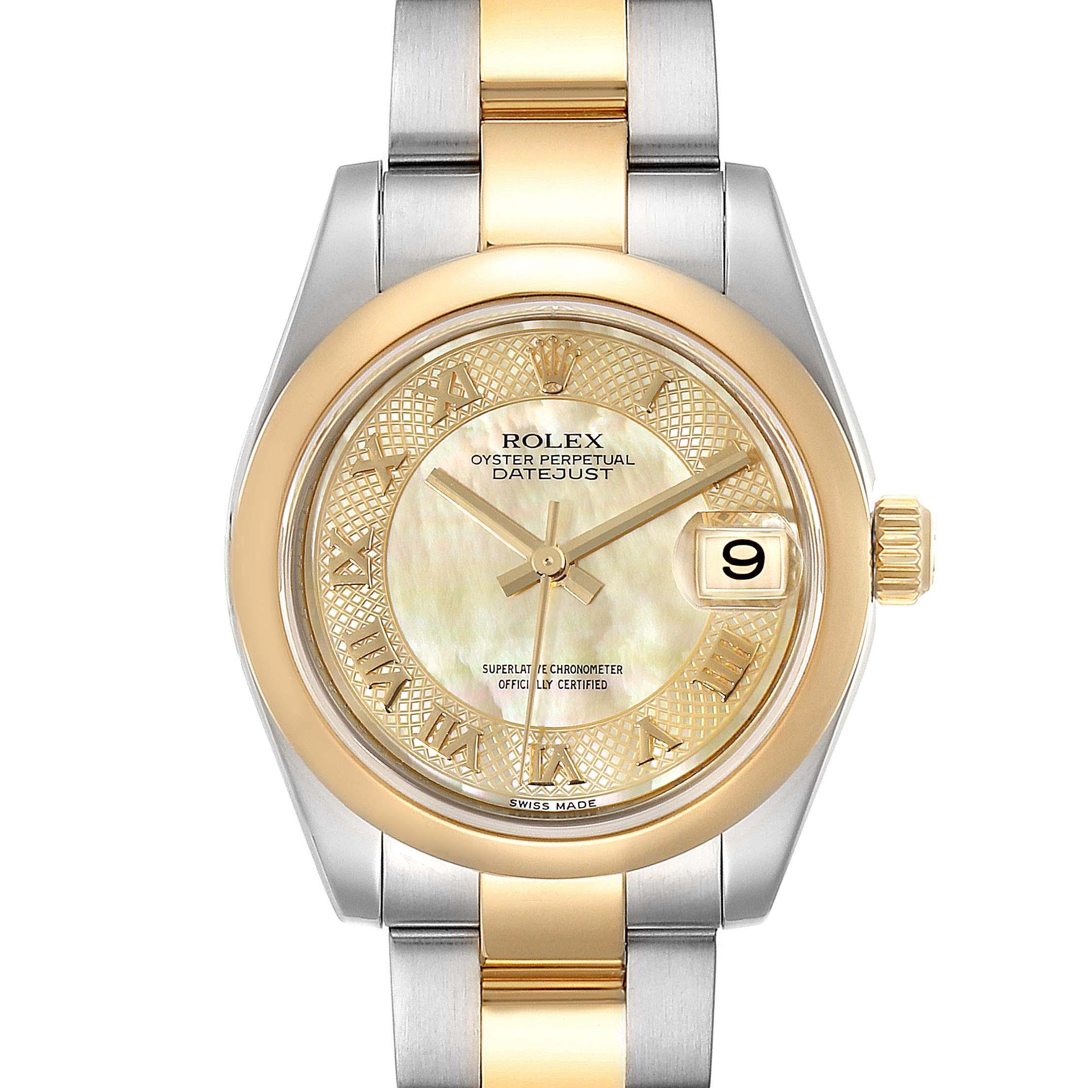 Rolex Datejust Midsize Steel Yellow Gold MOP Dial Ladies Watch 178243 Box  SwissWatchExpo