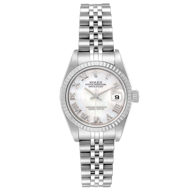 Rolex Datejust Mother of Pearl Dial Steel White Gold Ladies Watch 79174 SwissWatchExpo