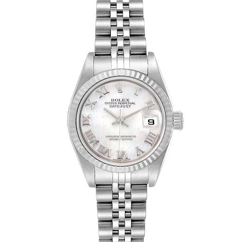 Photo of Rolex Datejust Mother of Pearl Dial Steel White Gold Ladies Watch 79174