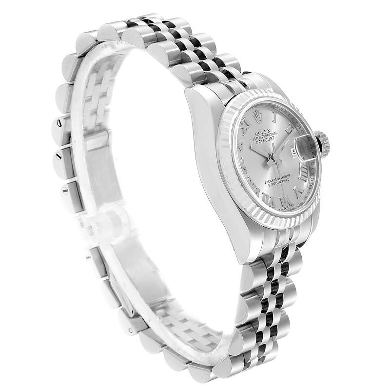 Rolex Datejust Steel White Gold Rhodium Roman Dial Ladies Watch 179174 SwissWatchExpo