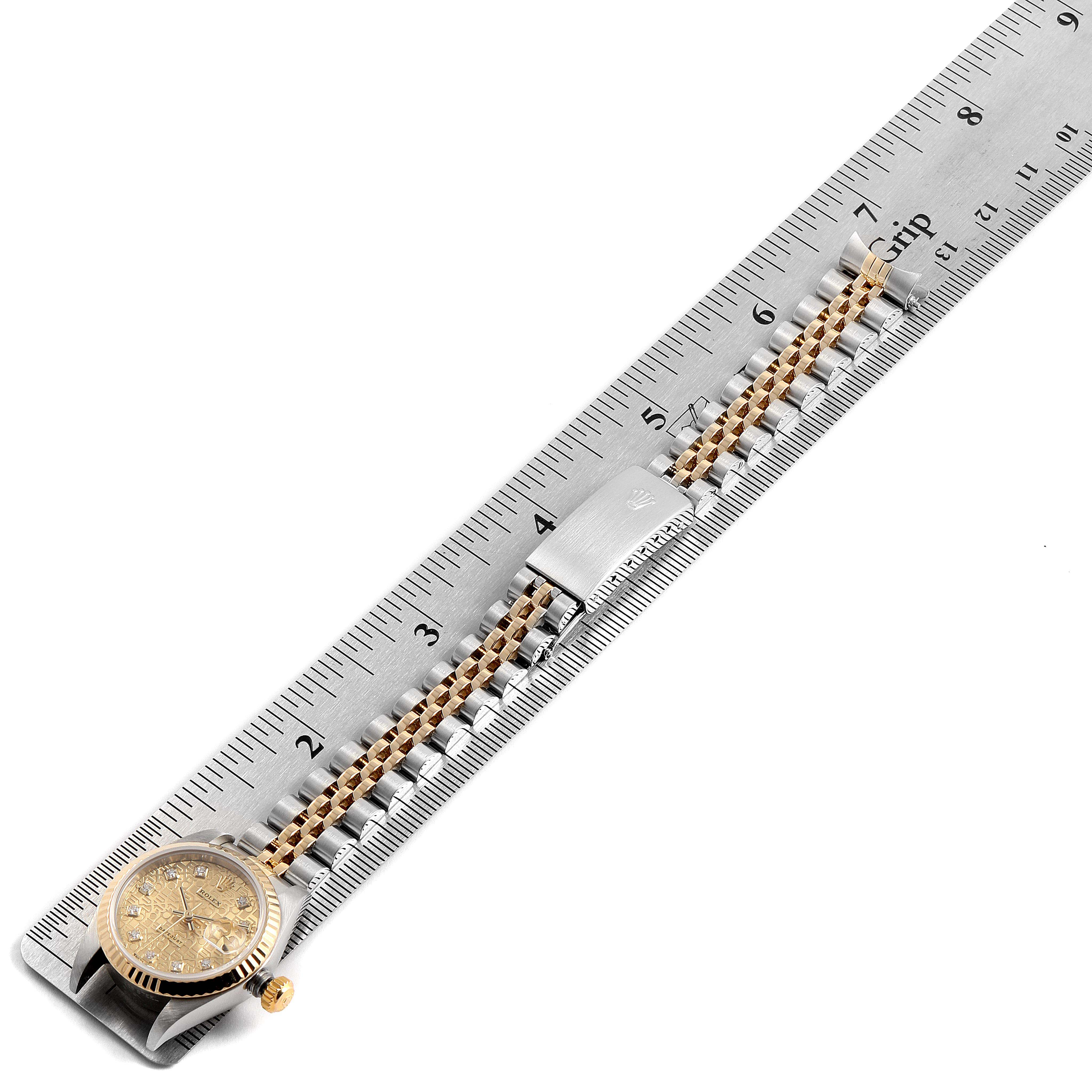 Rolex Datejust Steel Yellow Gold Jubilee Diamond Dial Ladies Watch 79173 SwissWatchExpo