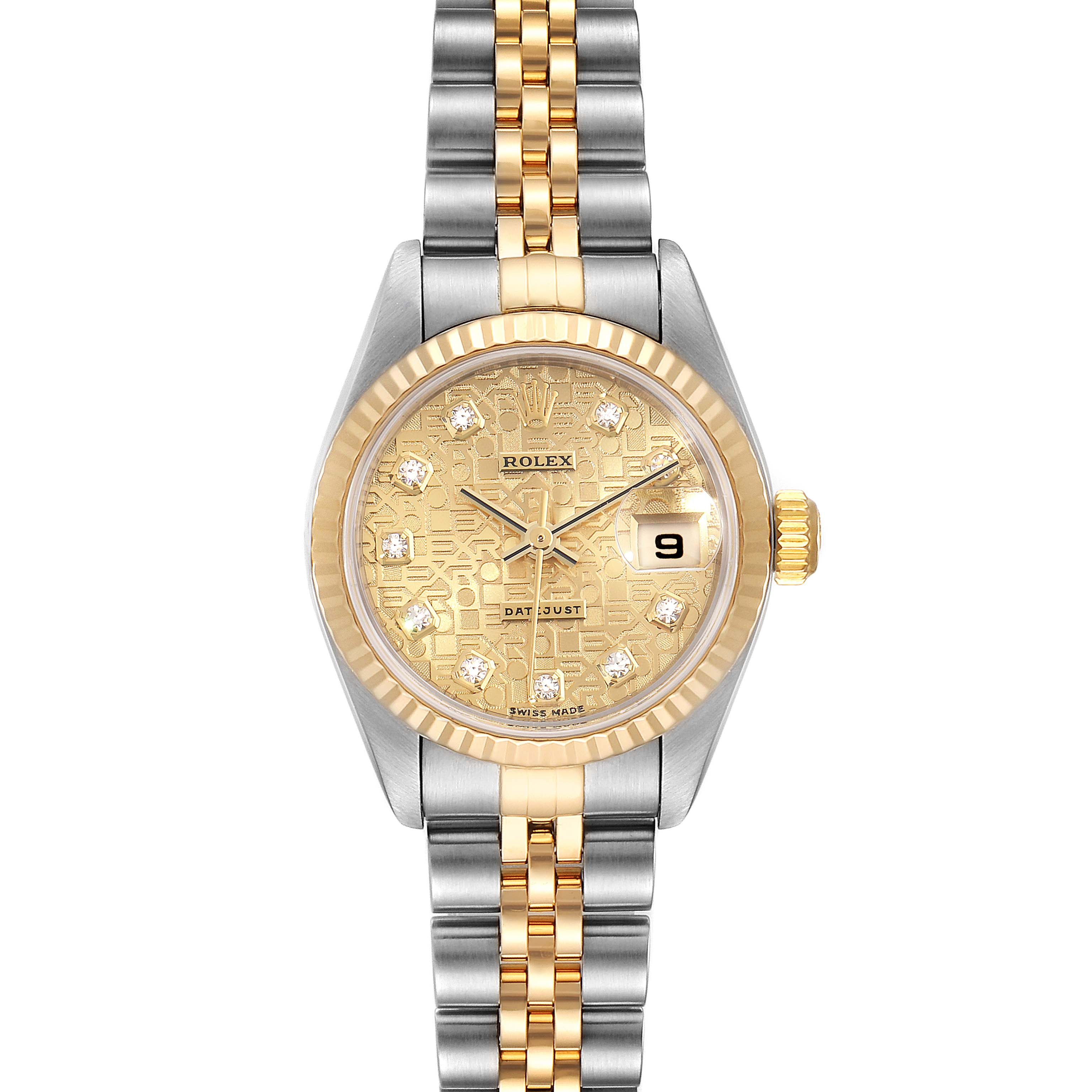 Photo of Rolex Datejust Steel Yellow Gold Jubilee Diamond Dial Ladies Watch 79173