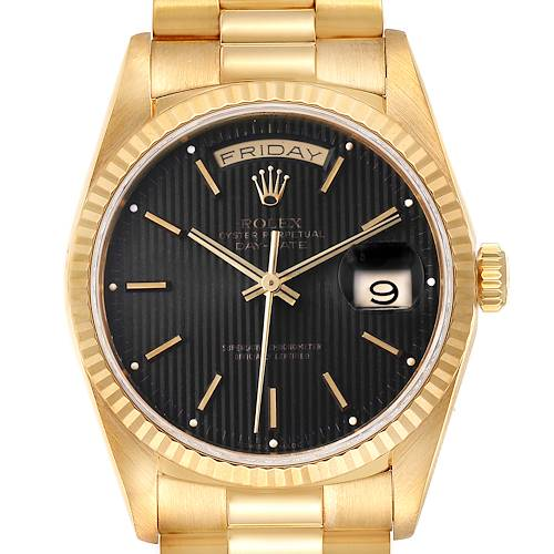 Photo of Rolex President Day-Date 36 Yellow Gold Tapestry Dial Mens Watch 18238