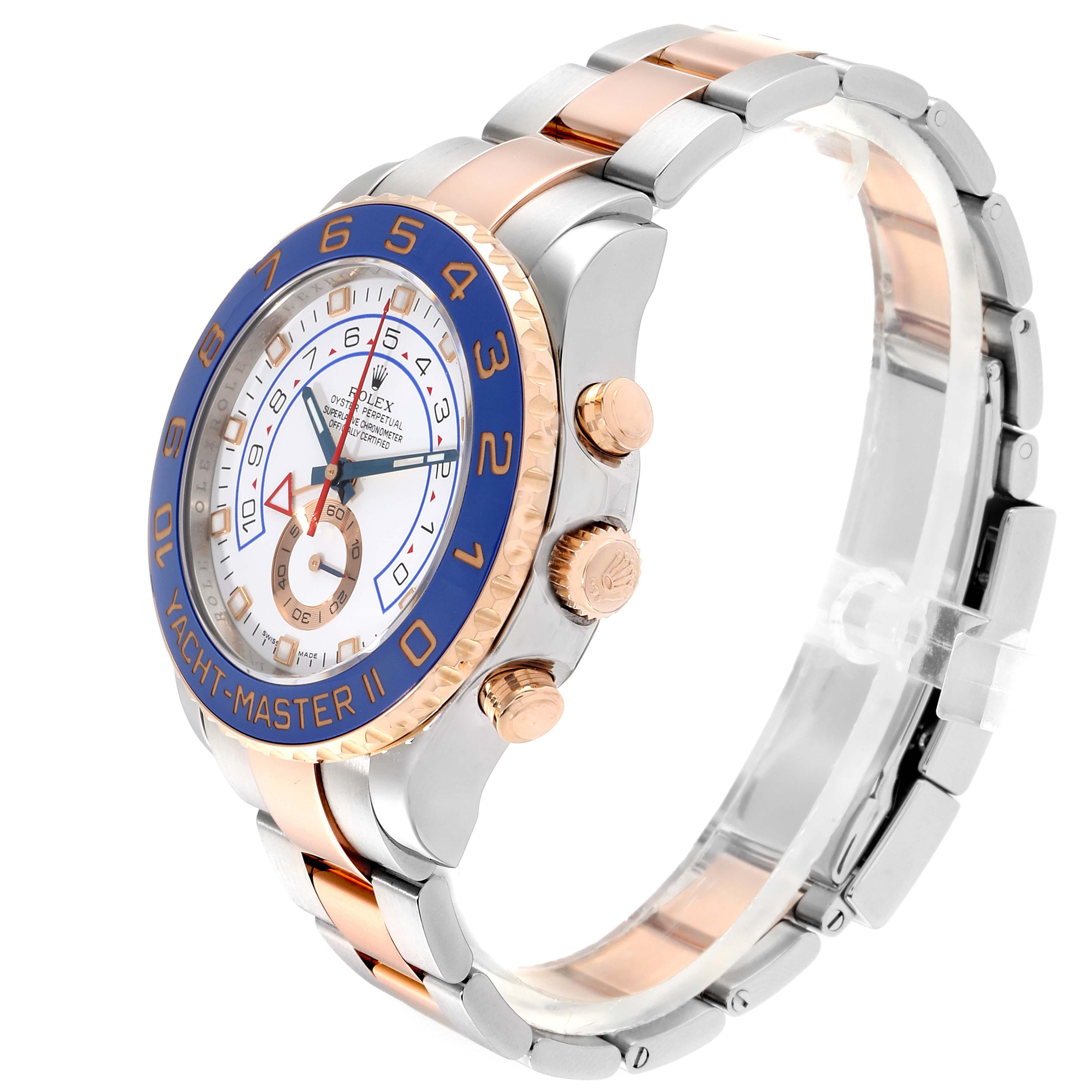 Rolex Yachtmaster II Rolesor EveRose Gold Steel Mens Watch 116681 SwissWatchExpo