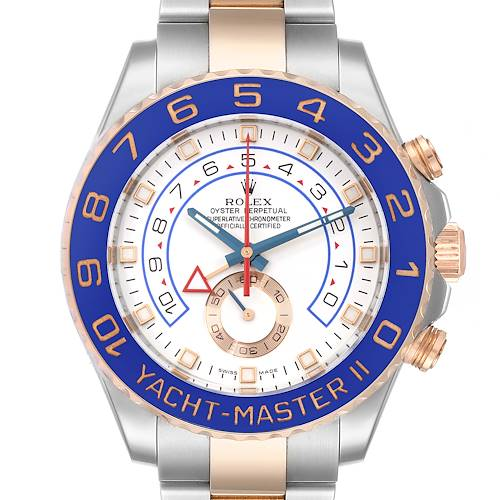 Photo of Rolex Yachtmaster II Rolesor EveRose Gold Steel Mens Watch 116681