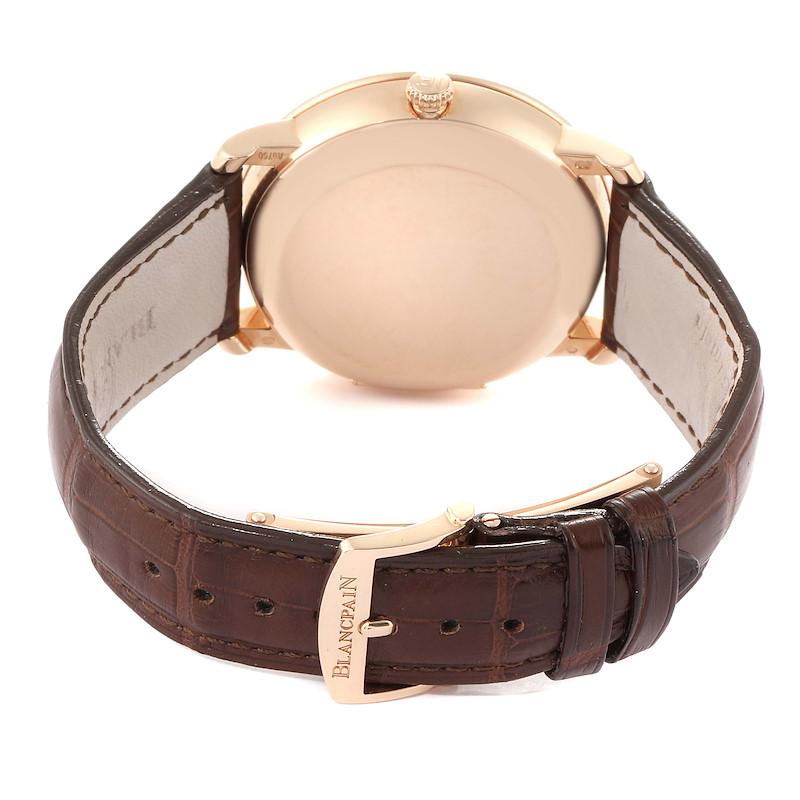 Blancpain Villeret Monopoussoir Rose Gold Mens Watch 6685-3642a-55b SwissWatchExpo