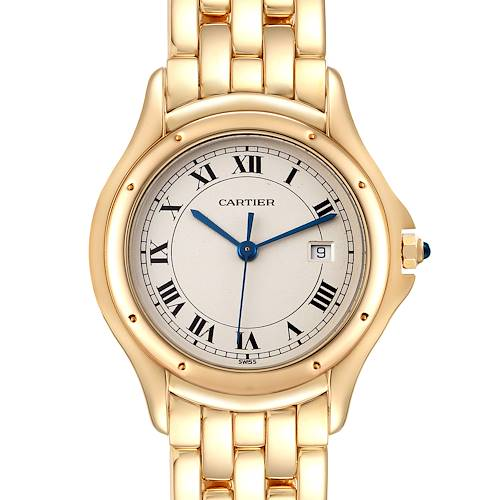 Photo of Cartier Cougar 18K Yellow Gold Silver Dial Ladies Watch 887904