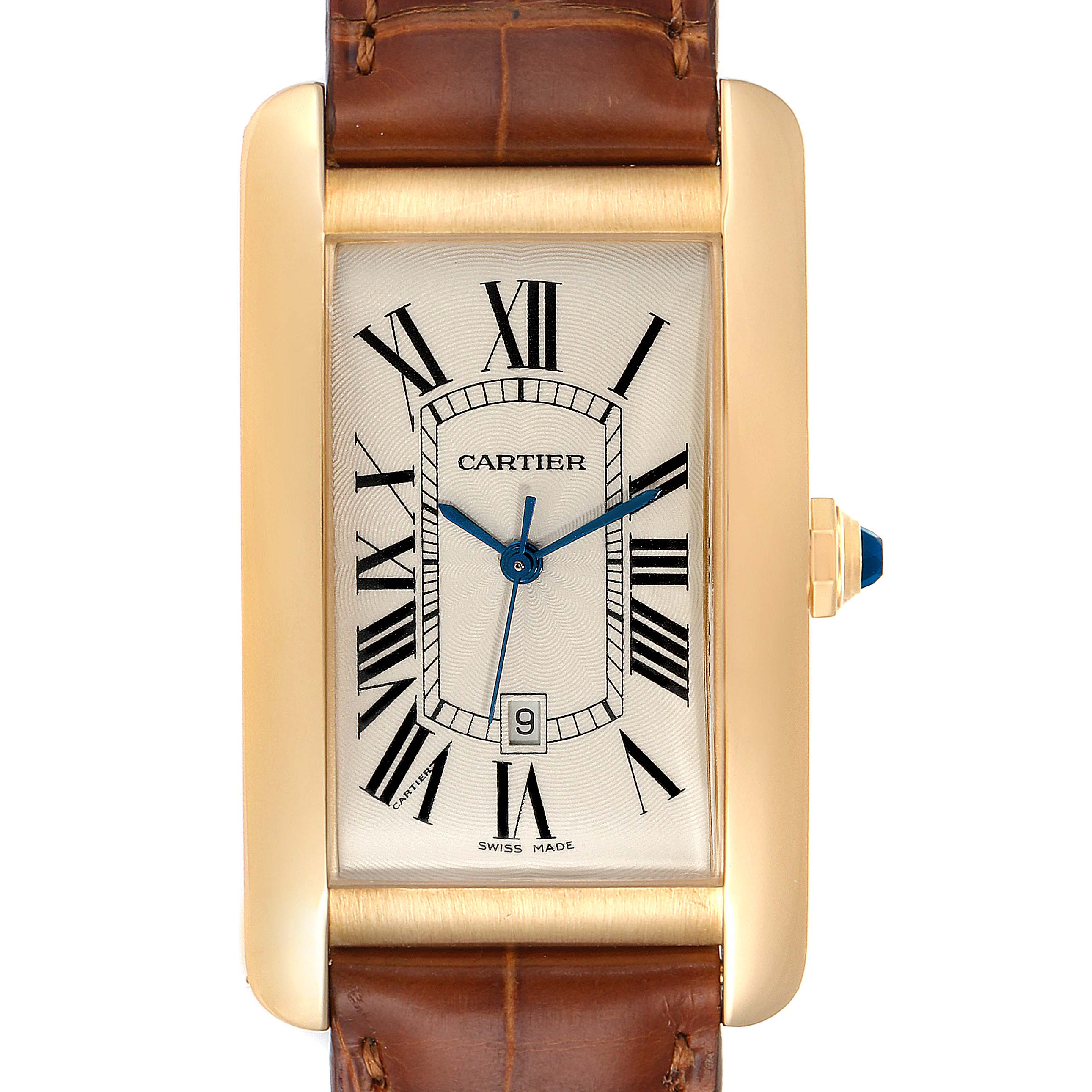 Photo of Cartier Tank Americaine 18K Yellow Gold Automatic Mens Watch W2603156