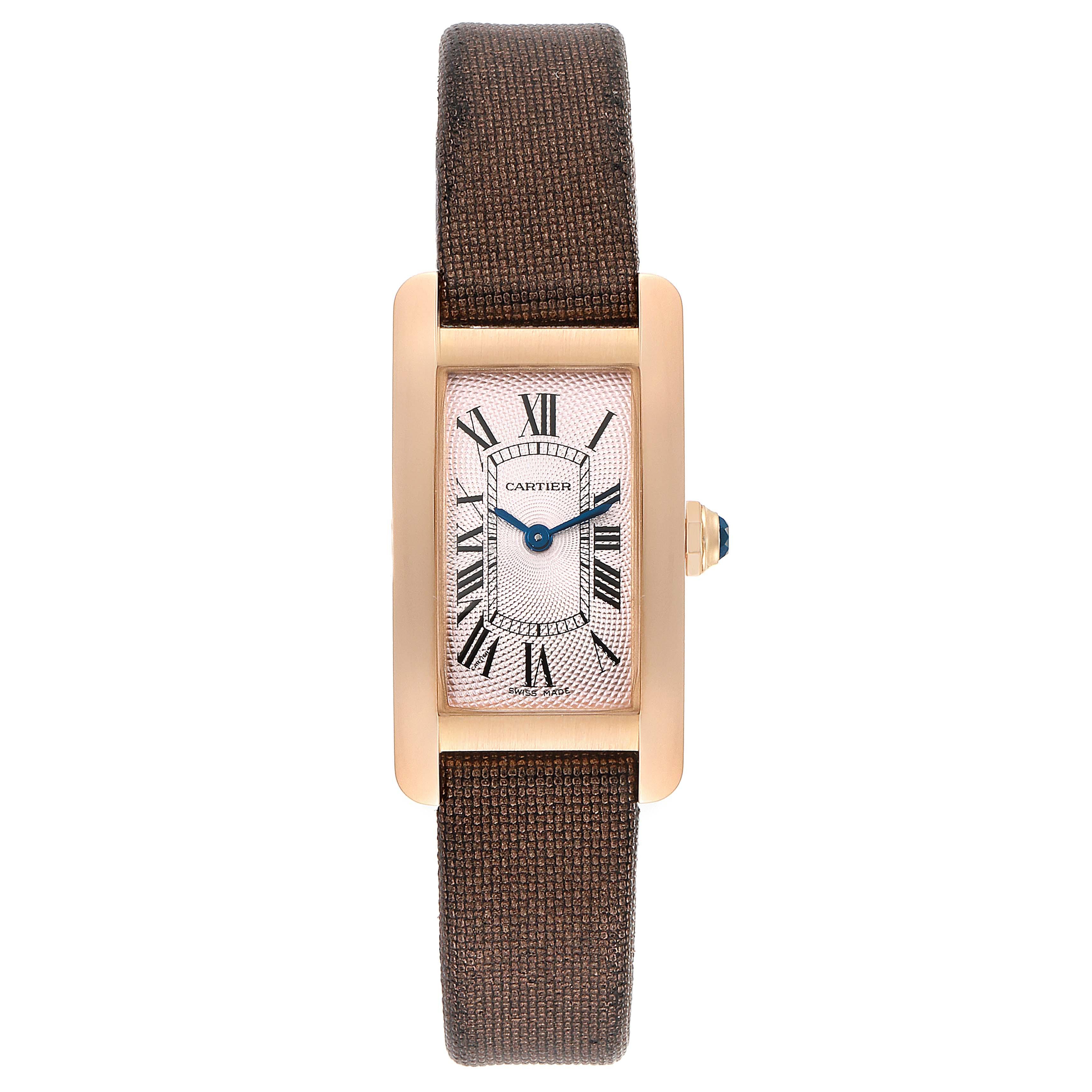 Cartier Tank Americaine Rose Gold Small Ladies Watch 2503 SwissWatchExpo