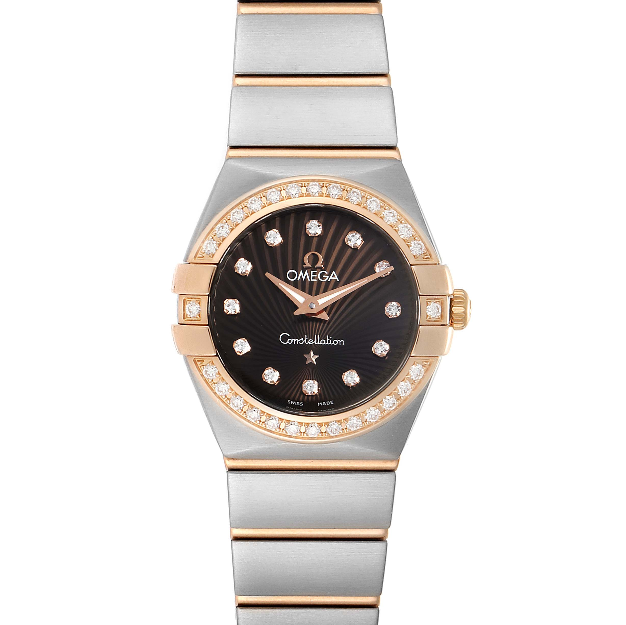 Photo of Omega Constellation MOP Diamond Steel Rose Gold Watch 123.25.24.60.63.001