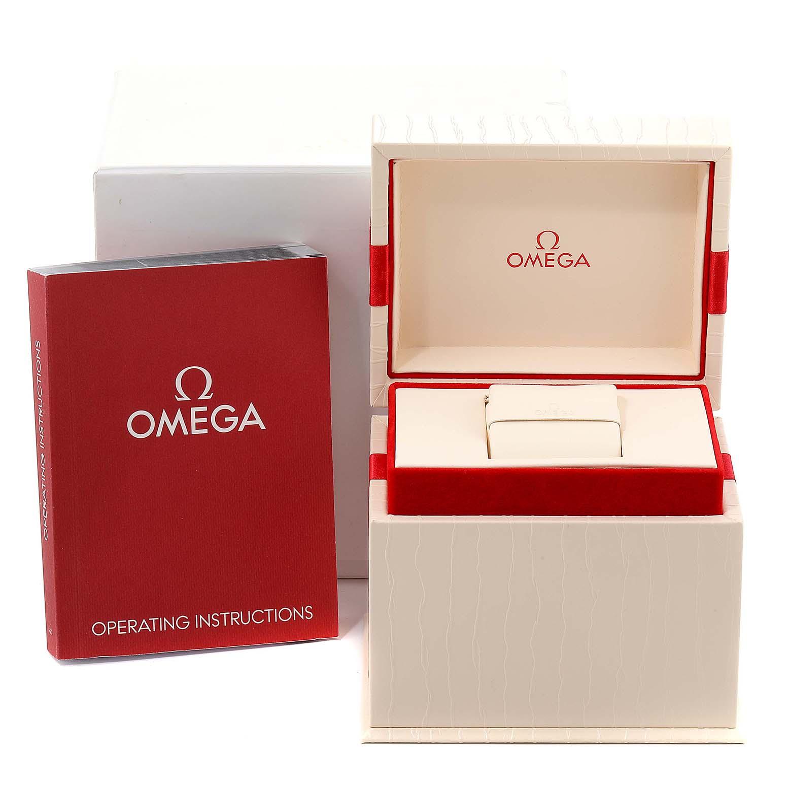 Omega Constellation MOP Diamond Steel Rose Gold Watch 123.25.24.60.63.001 SwissWatchExpo