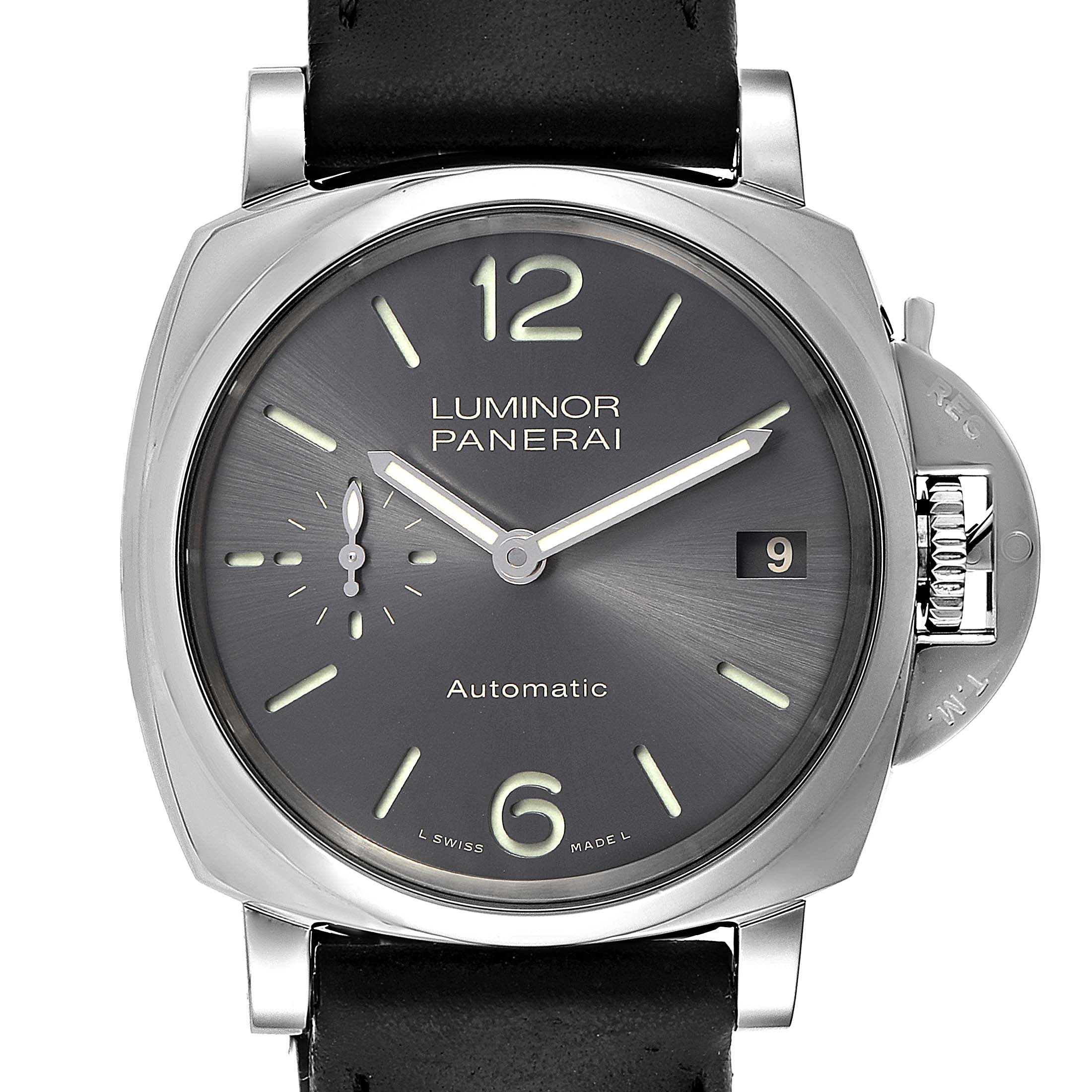 Photo of Panerai Luminor Due Grey Dial 3 Days 38mm Mens Watch PAM00755 Box Papers