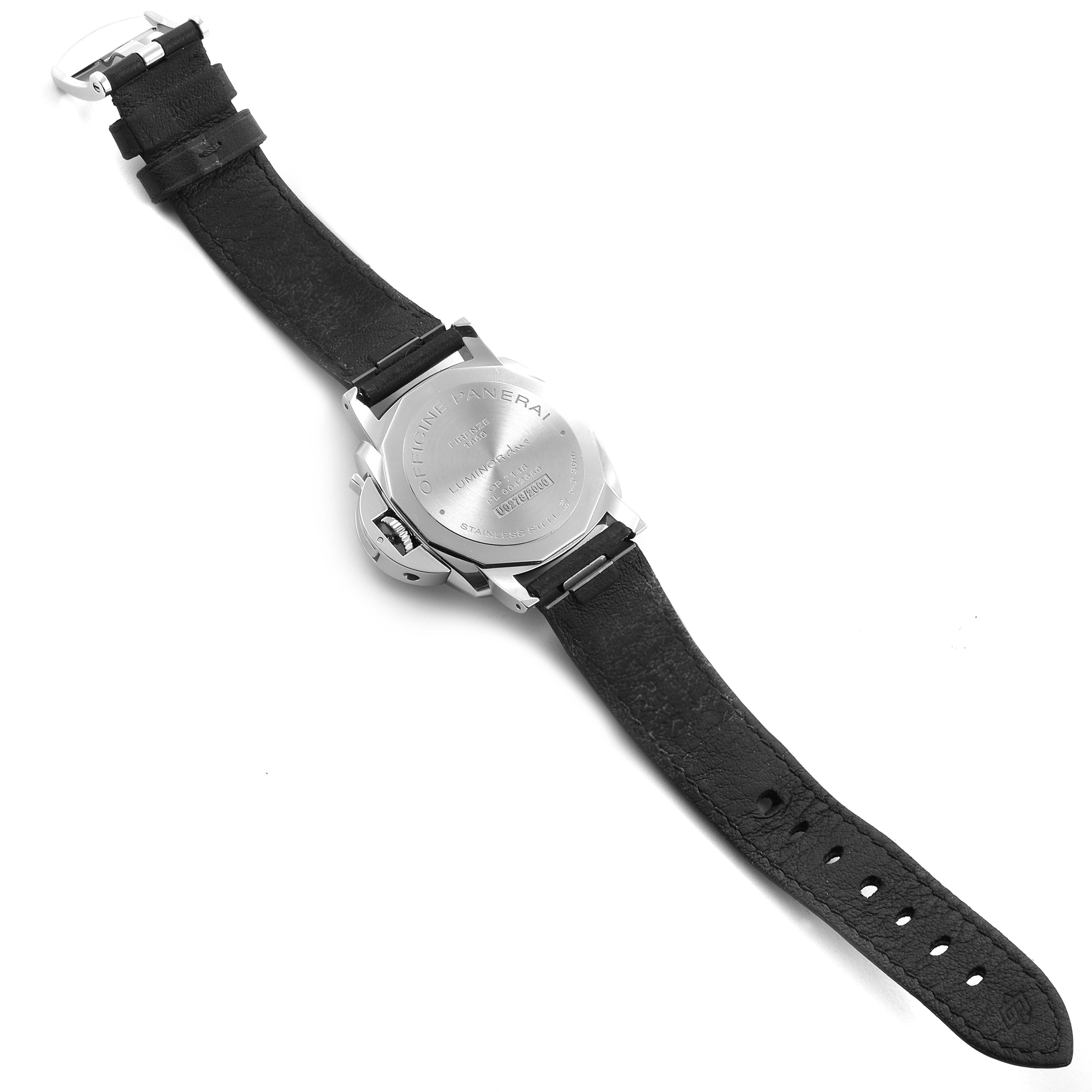 Panerai Luminor Due Grey Dial 3 Days 38mm Mens Watch PAM00755 Box Papers SwissWatchExpo