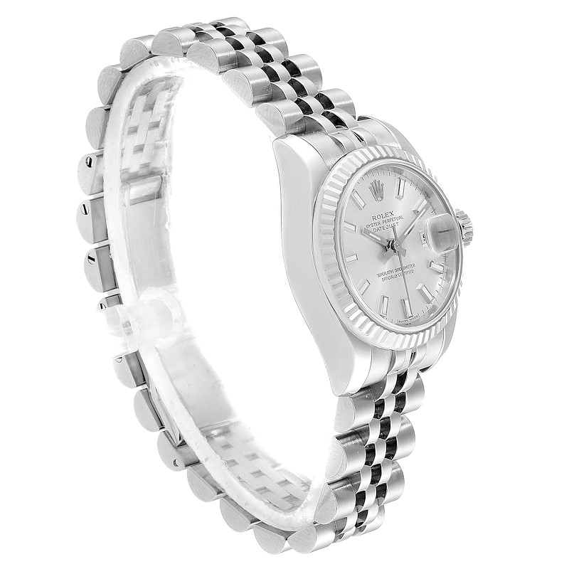 Rolex Datejust 26 Steel 18K White Gold Silver Dial Ladies Watch 179174 SwissWatchExpo