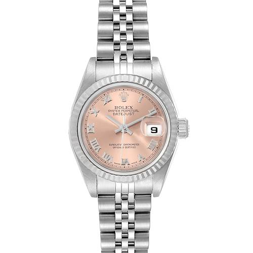 Photo of Rolex Datejust 26 Steel White Gold Salmon Dial Ladies Watch 79174 Box Papers