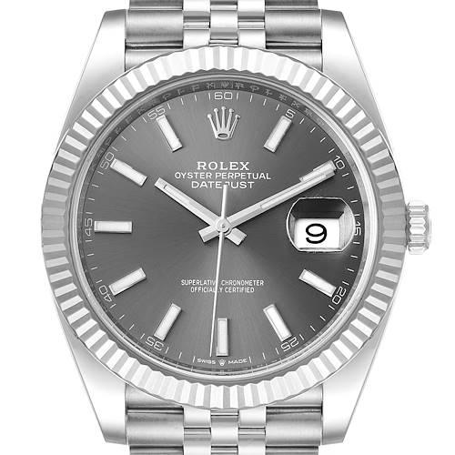 Photo of Rolex Datejust 41 Steel White Gold Rhodium Dial Mens Watch 126334 Unworn