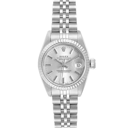 Photo of Rolex Datejust Silver Dial Steel White Gold Ladies Watch 69174