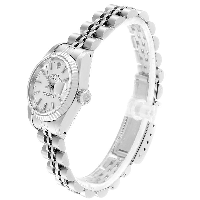 Rolex Datejust Silver Dial Steel White Gold Ladies Watch 69174  SwissWatchExpo