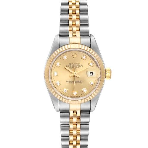 Photo of Rolex Datejust Steel Yellow Gold Diamond Dial Ladies Watch 79173