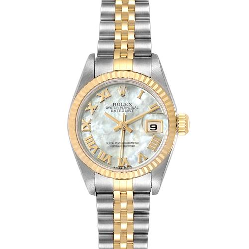 Photo of Rolex Datejust Steel Yellow Gold MOP Roman Dial Ladies Watch 79173