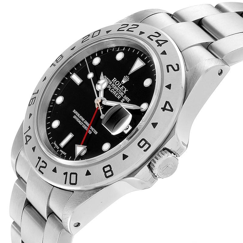 Rolex Explorer II Black Dial Automatic Steel Mens Watch 16570 SwissWatchExpo