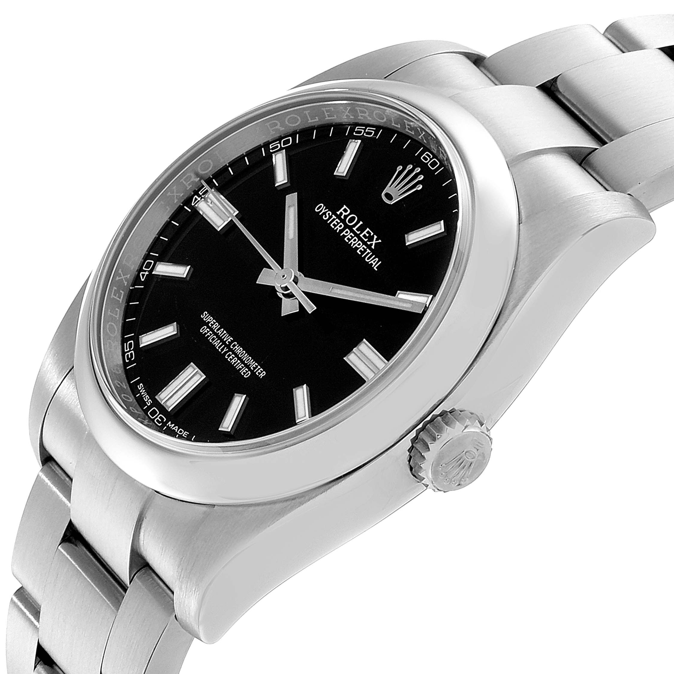 Rolex Oyster Perpetual 36 Black Dial Steel Mens Watch 116000 Box Card SwissWatchExpo