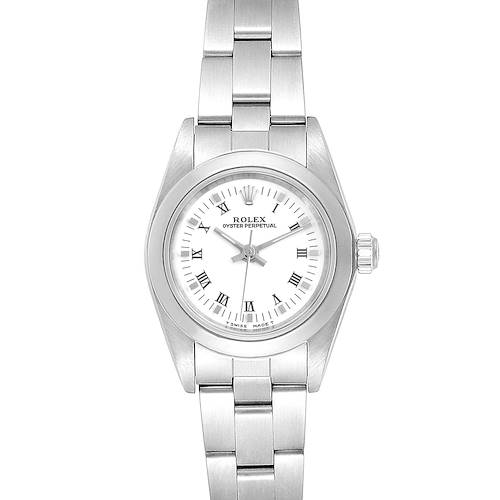 Photo of Rolex Oyster Perpetual Nondate White Dial Steel Ladies Watch 67180