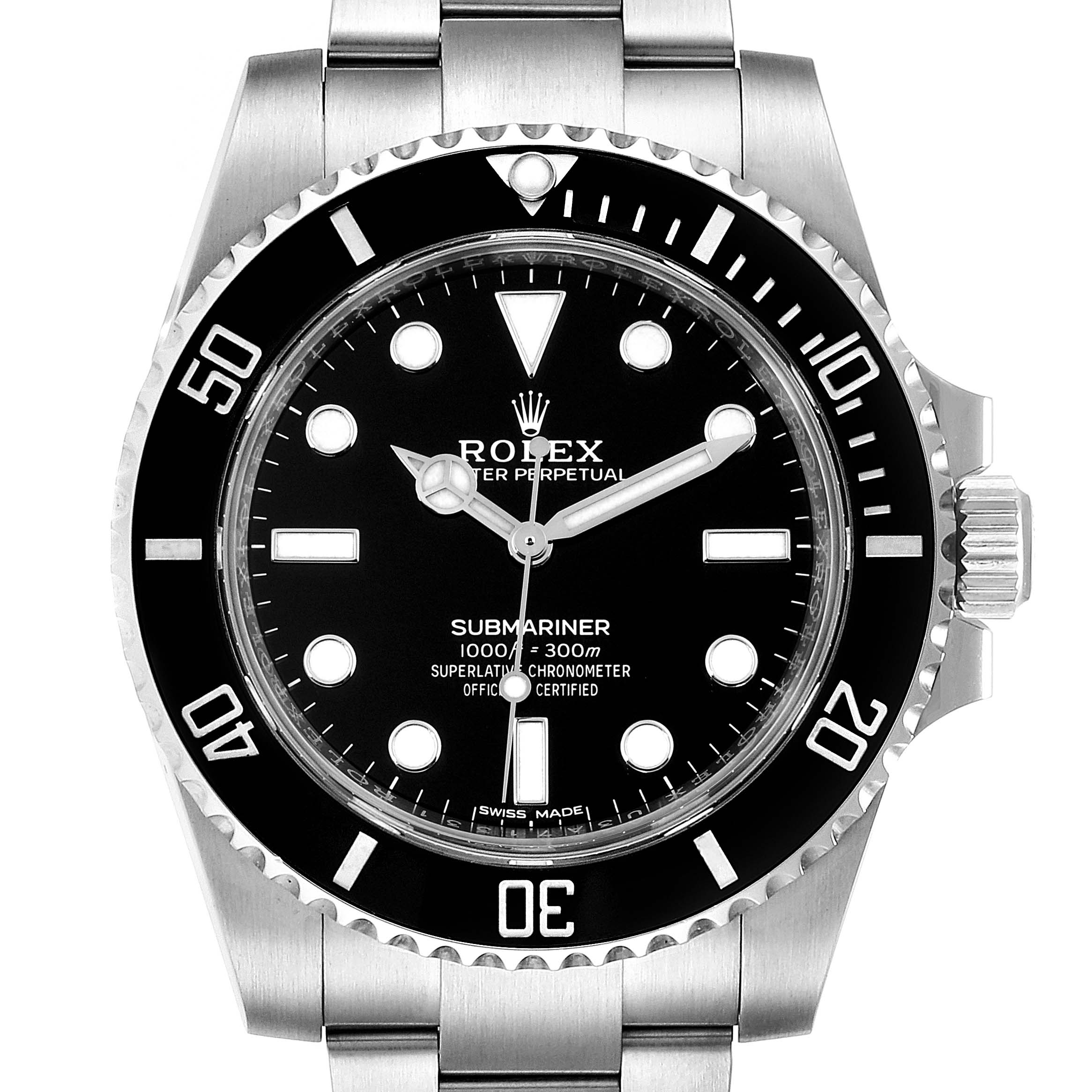 Photo of Rolex Submariner 40mm Ceramic Bezel Steel Watch 114060 Box Card