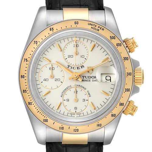 Photo of Tudor Tiger Woods Steel Yellow Gold Mens Watch 79263 Box Papers