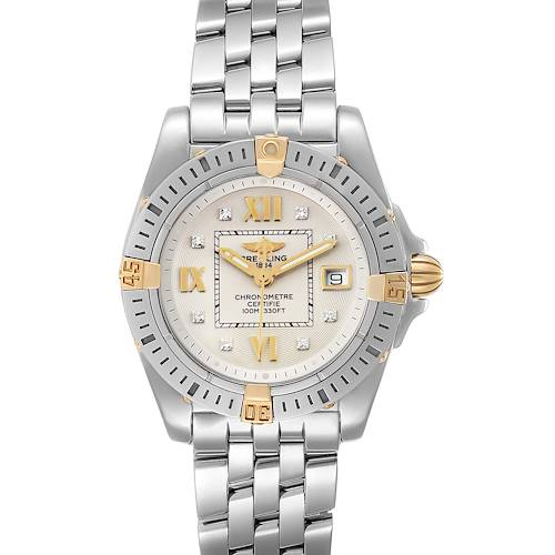 Breitling Cockpit Steel Yellow Gold Diamond Ladies Watch B71356