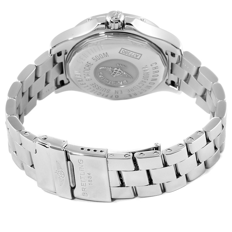 Breitling Colt Oceane Stainless Steel Diamond Ladies Watch A77380 Box Papers SwissWatchExpo