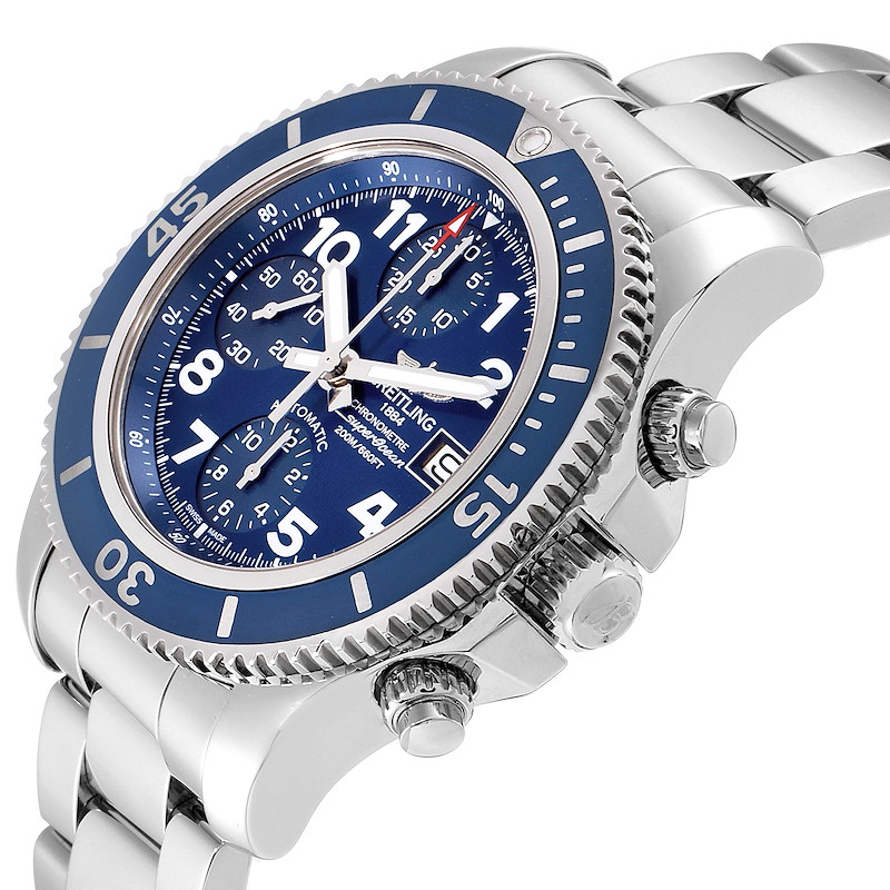Breitling Superocean Chronograph Blue Dial Mens Watch A13311 SwissWatchExpo