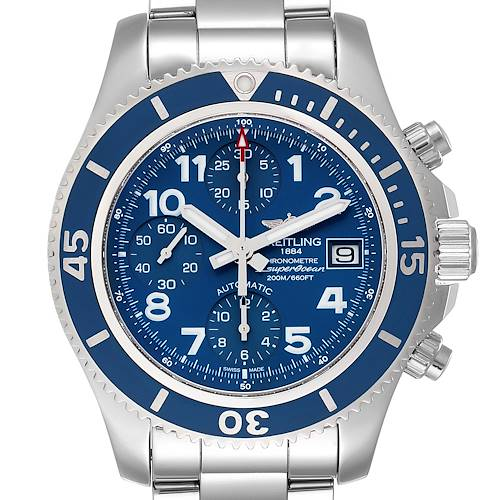Photo of Breitling Superocean Chronograph Blue Dial Mens Watch A13311