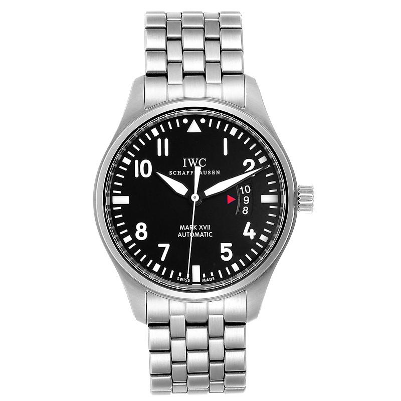 IWC Pilots Mark XVII Automatic Steel Mens Watch IW326504 SwissWatchExpo