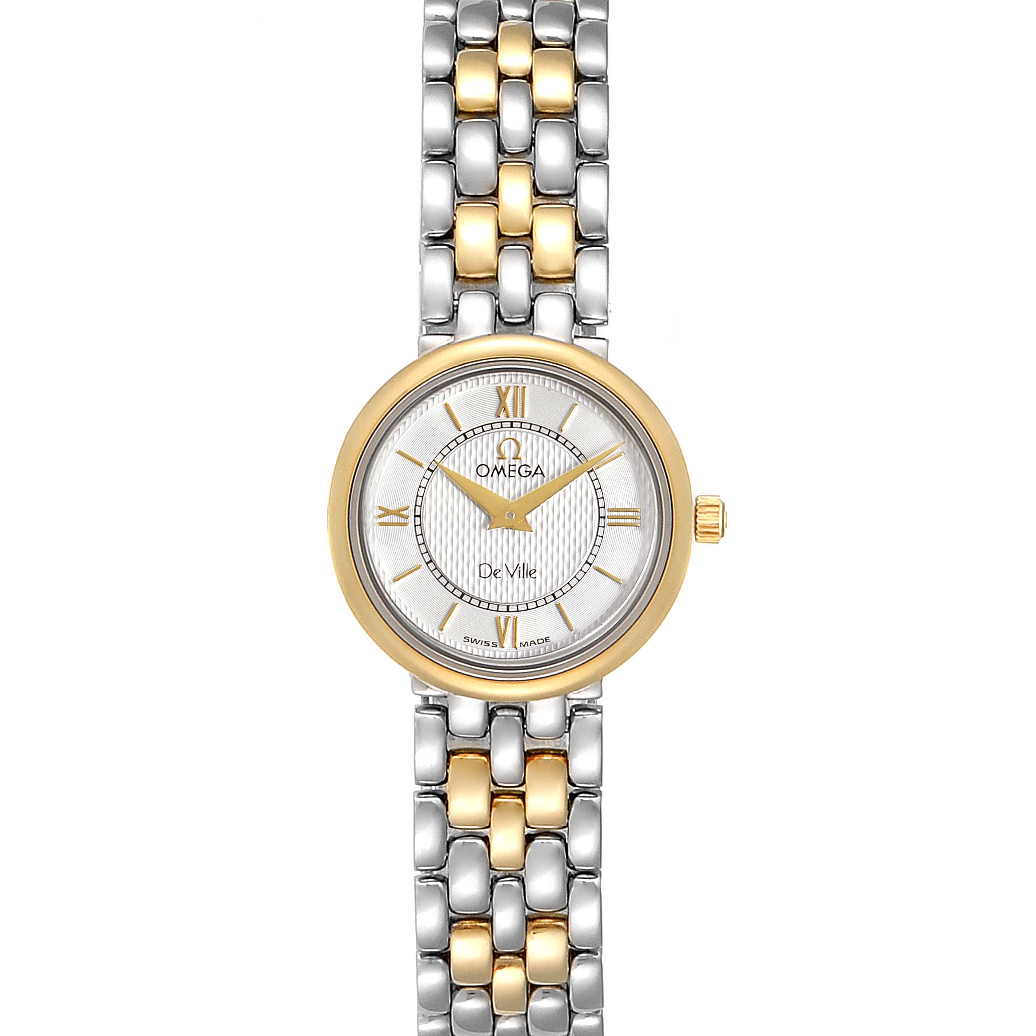Omega DeVille Classic Steel Yellow Gold Ladies Watch 7374.31.00 Card SwissWatchExpo