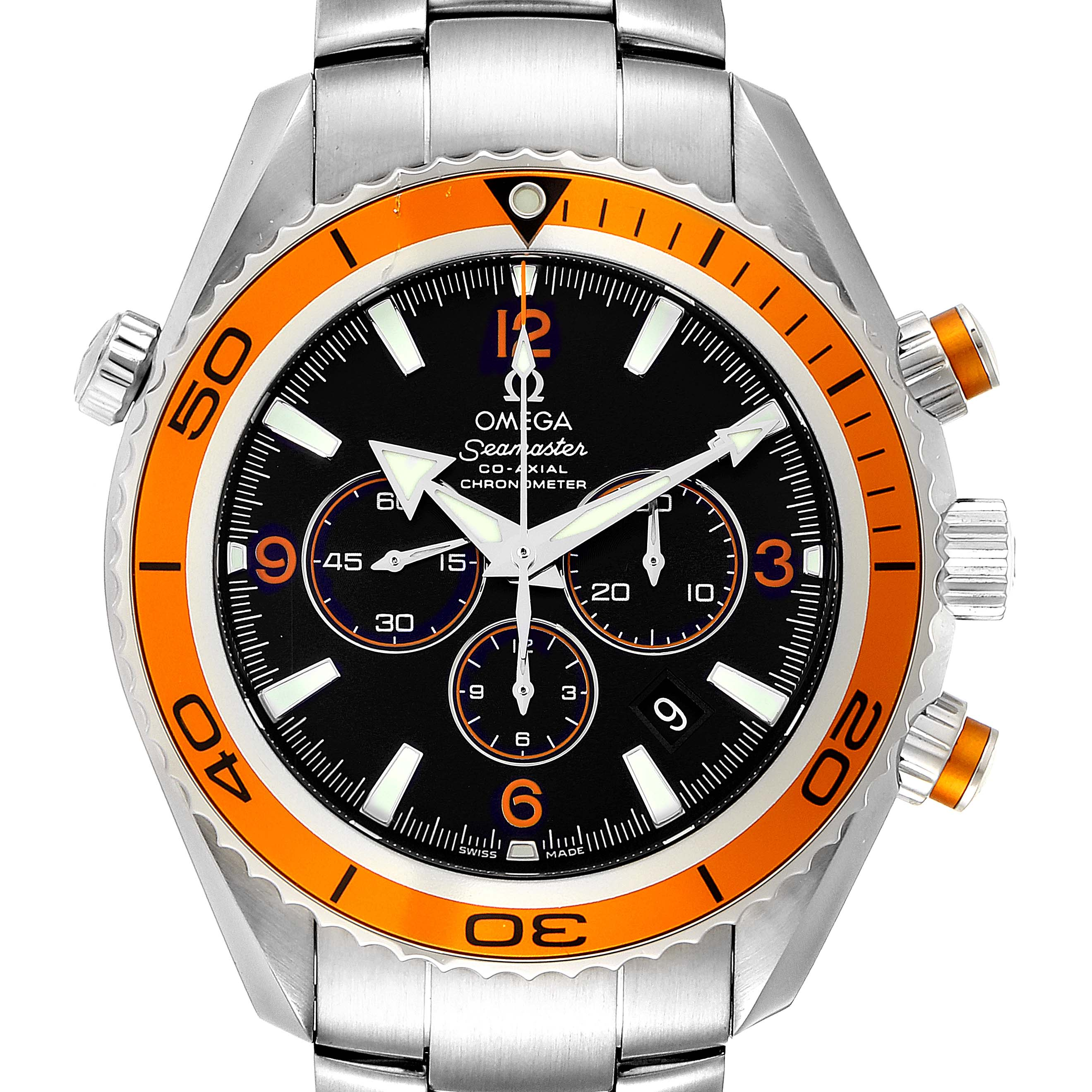 Photo of Omega Seamaster Planet Ocean XL Chrono Mens Watch 2218.50.00