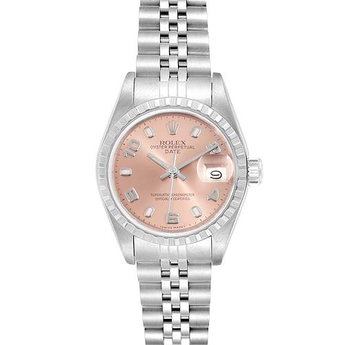 Rolex Date Salmon Dial Jubilee Bracelet Steel Ladies Watch 69240 Box Papers
