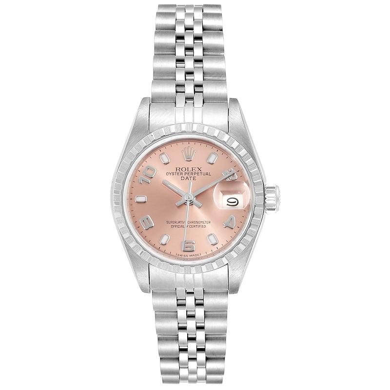 Rolex Date Salmon Dial Jubilee Bracelet Steel Ladies Watch 69240 Box Papers SwissWatchExpo