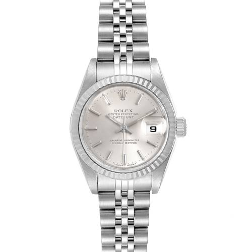 Photo of Rolex Datejust 26 Steel White Gold Silver Dial Ladies Watch 79174 Box Papers