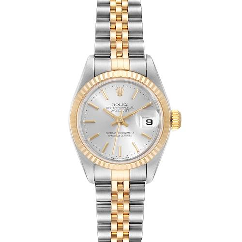 Photo of Rolex Datejust 26 Steel Yellow Gold Silver Dial Ladies Watch 79173 Box Papers