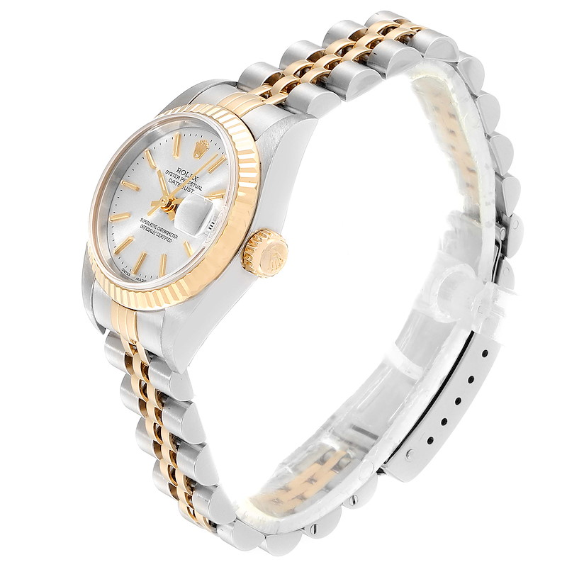 Rolex Datejust 26 Steel Yellow Gold Silver Dial Ladies Watch 79173 Box Papers SwissWatchExpo