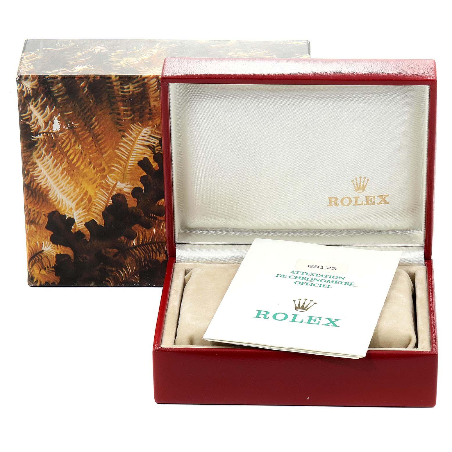 Rolex Datejust 26mm Steel Yellow Gold Diamond Ladies Watch 69173 Box Papers SwissWatchExpo