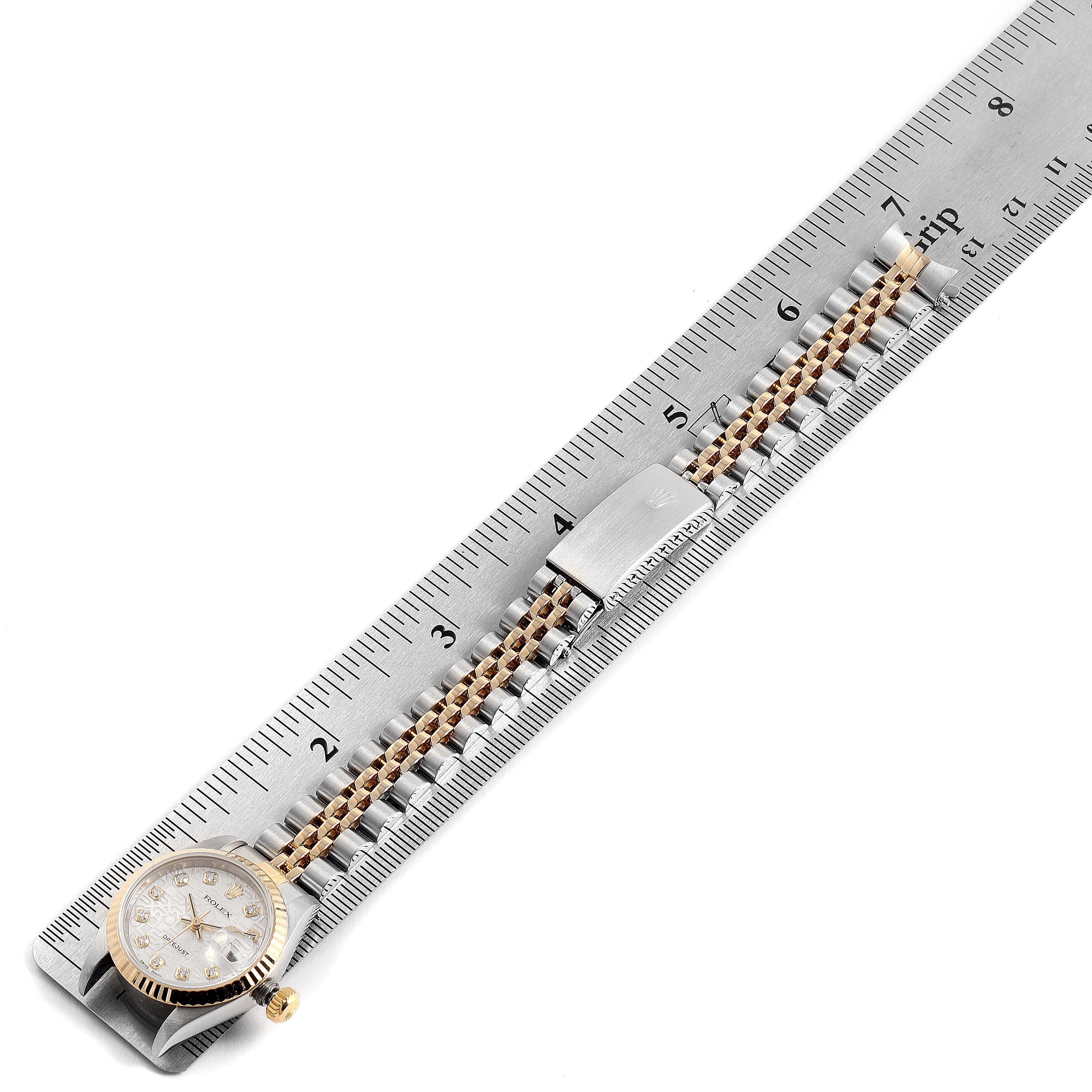 Rolex Datejust Steel Yellow Gold Diamond Dial Ladies Watch 79173 Box Papers SwissWatchExpo