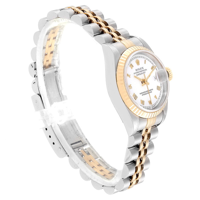 Rolex Datejust Steel Yellow Gold Fluted Bezel Ladies Watch 69173 Box and Papers SwissWatchExpo