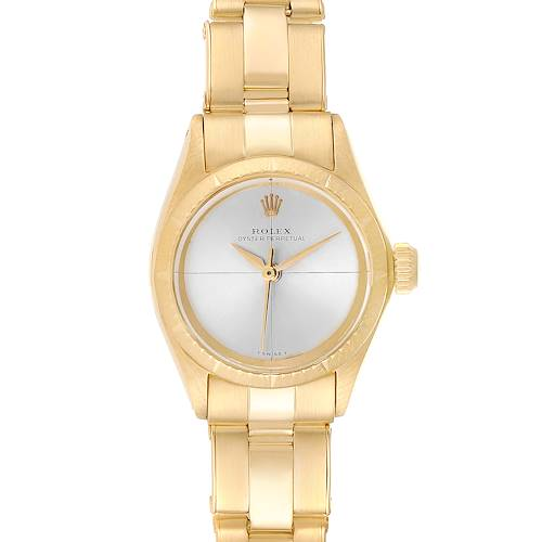 Photo of Rolex Oyster Perpetual NonDate Yellow Gold Ladies Watch 6615