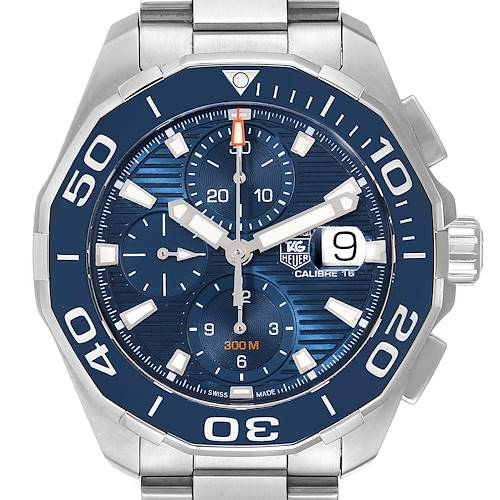 Photo of Tag Heuer Aquaracer Blue Dial Steel Mens Watch CAY211B Box Card