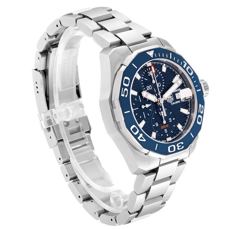 Tag Heuer Aquaracer Blue Dial Steel Mens Watch CAY211B Box Card SwissWatchExpo
