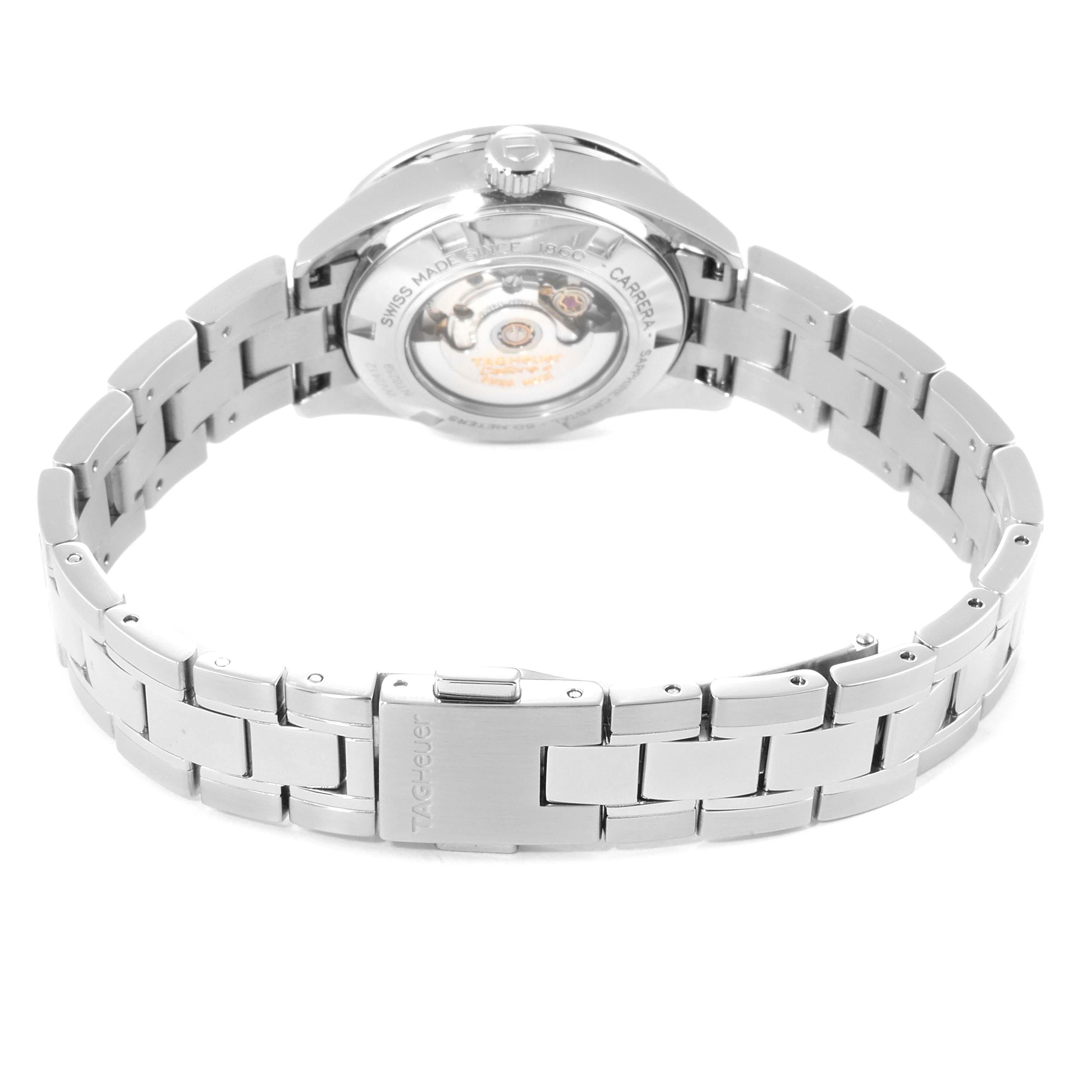 TAG Heuer Carrera Black Diamond Dial Ladies Watch WV2412 Box Card SwissWatchExpo