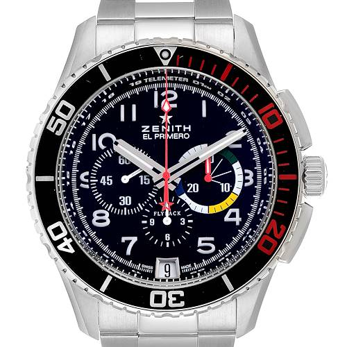 Photo of Zenith El Primero Stratos Flyback Steel Mens Watch 03.2061.405